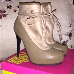 Olive Ankle Booties!